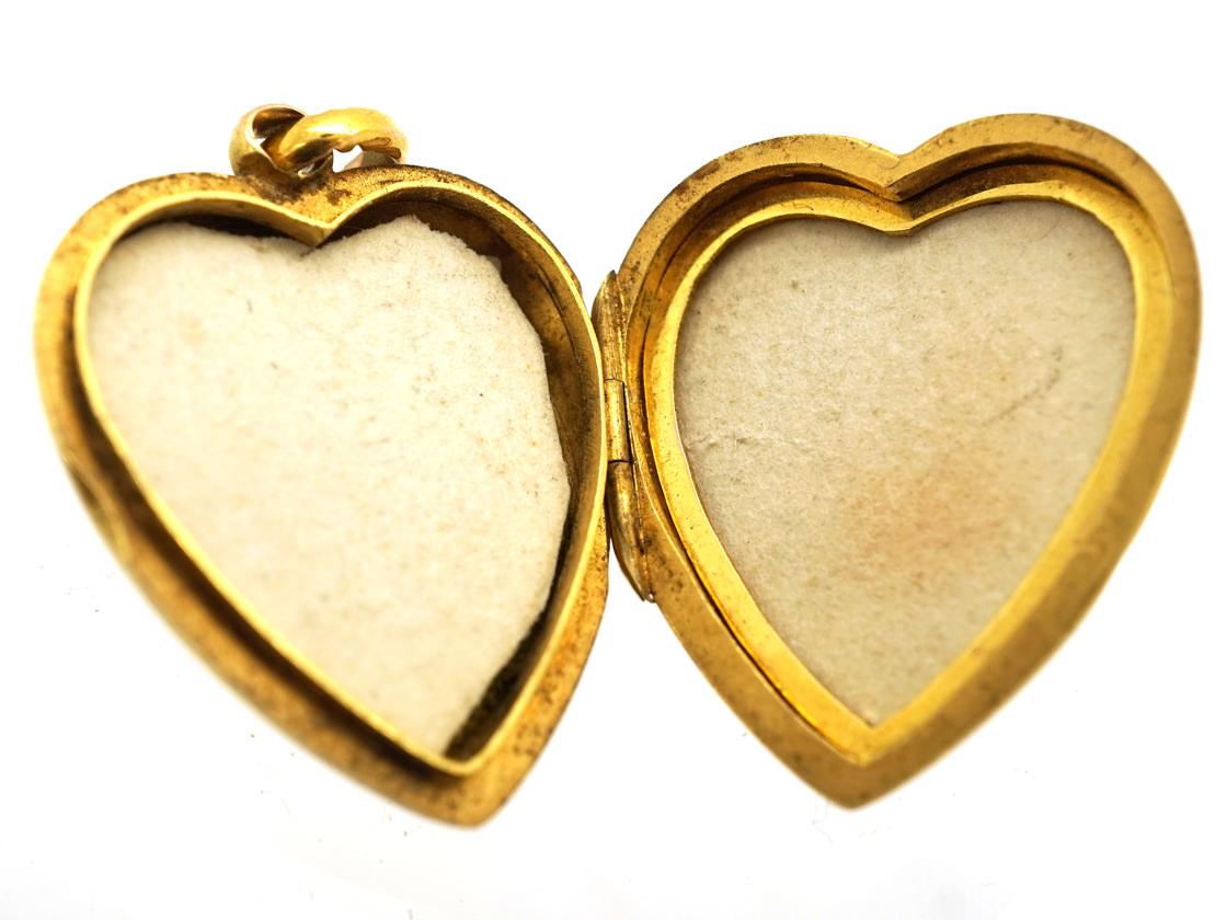 Edwardian 15ct Gold Heart Shaped Locket