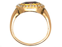 Georgian Gold, Almandine Garnet & Natural Split Pearls Ring