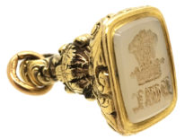 Georgian Gold Cased Seal with Chalcedony Intaglio Base