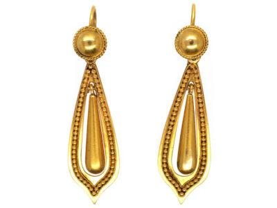 Victorian 15ct Gold Drop Earrings