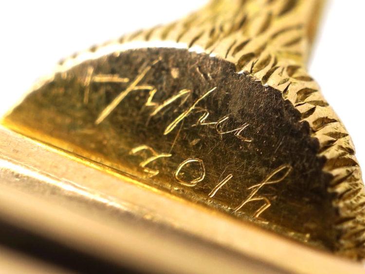 Edwardian 15ct Gold & Platinum Fox & Whip Brooch