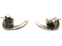 Silver Boomerang Earrings by Ernst Dragsted