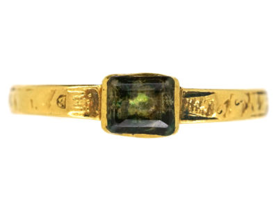 Georgian 18ct Gold Mourning Ring Dated 1727