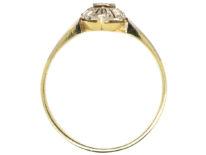 Edwardian 14ct Gold & Platinum, Diamond Set Marquise Ring