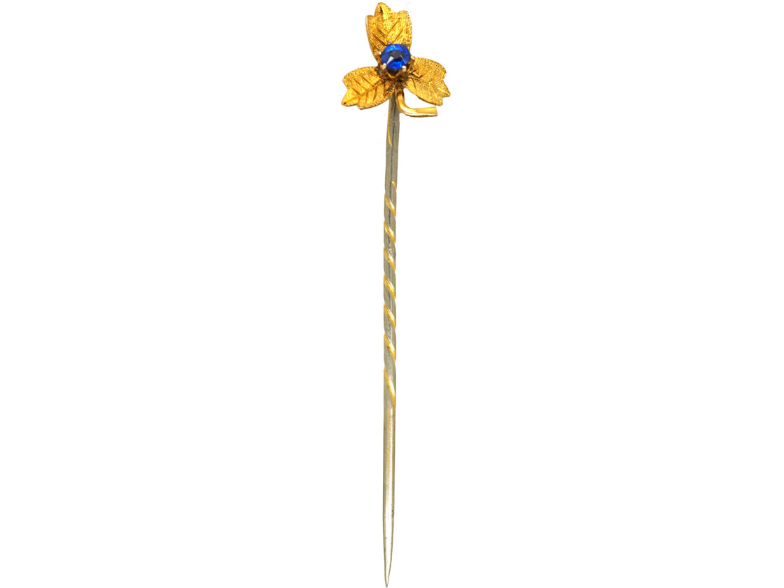 Edwardian 9ct Gold & Sapphire Doublet Tie Pin