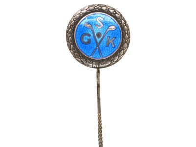 Swedish Silver & Enamel Golfing Tie Pin