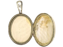 Victorian Silver & Gold Overlay Aesthetic Period Oval Locket