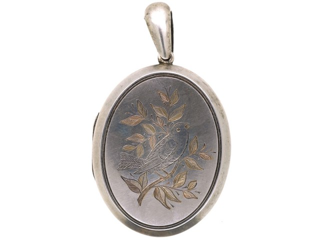 Victorian Silver Oval Shaped Locket With