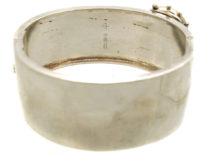 Victorian Silver Engraved Buckle Bangle