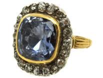 Georgian Sapphire & Diamond Ring