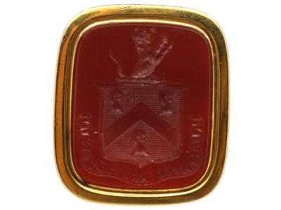 Georgian 18ct Gold Seal With Carnelian Intaglio