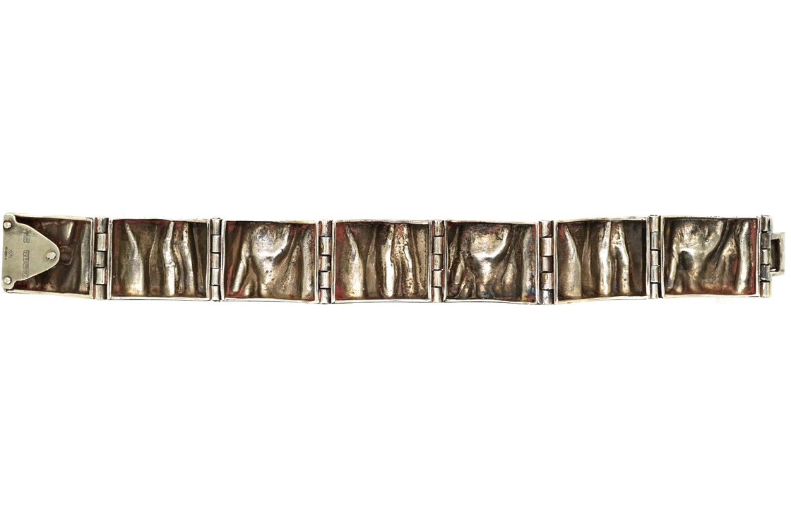 Modernist Silver Bracelet by Matti J. Hyvärinen