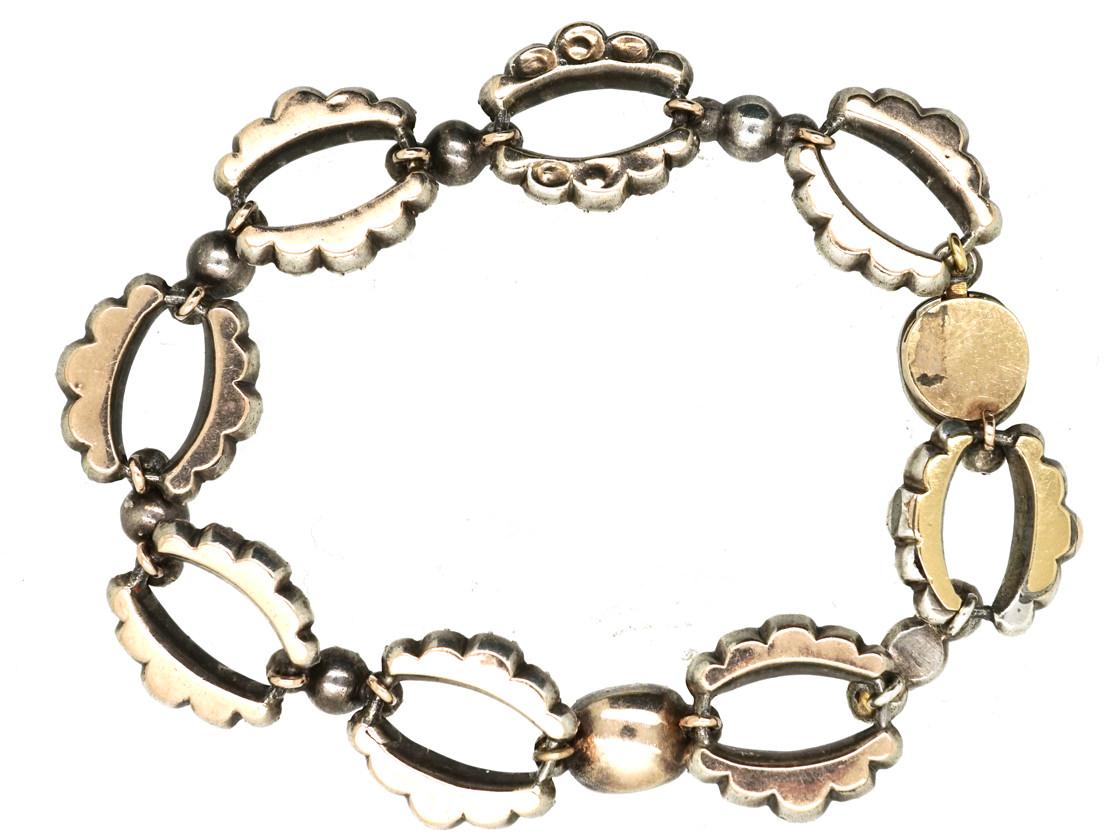 Georgian Silver & Flat Cut Almandine Garnet Bracelet