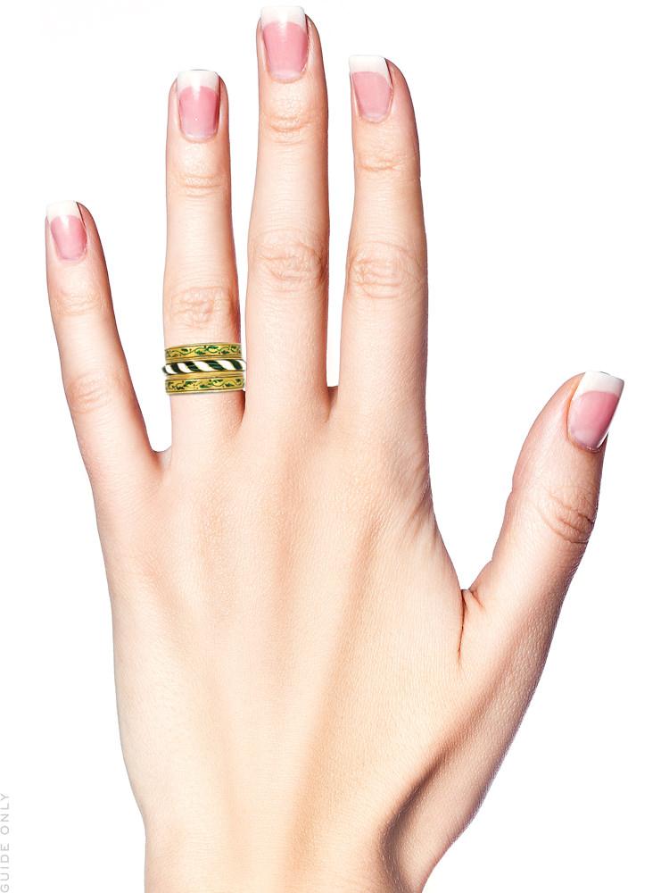 Victorian Triple Set of 18ct Gold & Enamel Rings