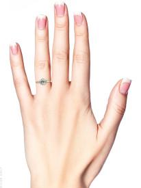 Art Deco 18ct Gold & Platinum, Diamond Solitaire Ring With Baguette Diamond Shoulders