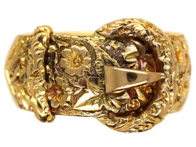 Edwardian 18ct Gold Cling to Me Buckle Ring