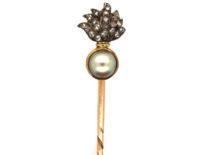 Grenadier Guards Rose Diamond & Natural Split Pearl Tie Pin