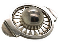 Victorian Silver Sun Brooch