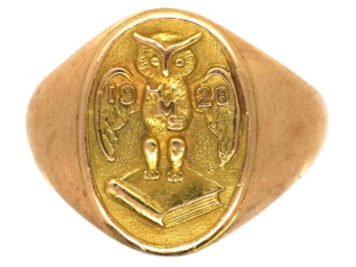 14ct Gold Wise Owl Ring
