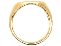 14ct Gold Signet Ring By Tiffany With Crest Intaglio