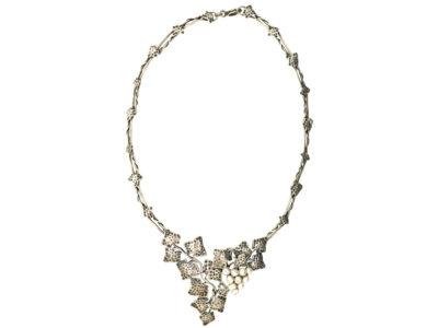 Silver & Pearl Grapevine Necklace