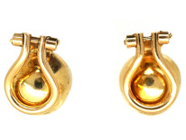 18ct Gold Clip On Pearl Earrings