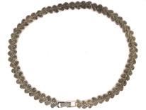 Silver & Marcasite Leaf Necklace