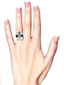 14ct White Gold Large Oval Aquamarine Ring