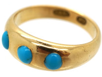 Victorian 15ct Gold & Turquoise Ring
