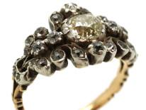 Georgian Diamond Cluster Ring