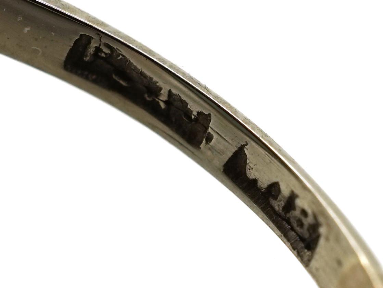 Art Deco 18ct Gold, Platinum, Black Opal & Diamond Ring