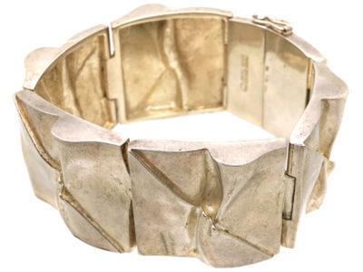 Wide Silver Bracelet by Bjorn Weckstrom for Lapponia