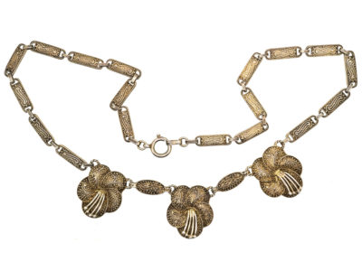Art Deco Silver Gilt Necklace by Theodor Fahrner