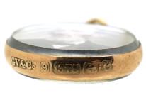 Edwardian 9ct Gold Double Sided Round Locket Pendant