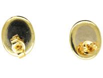 14ct Gold & Oval Moonstone Stud Earrings
