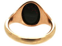 9ct Gold & Oval Bloodstone Signet Ring