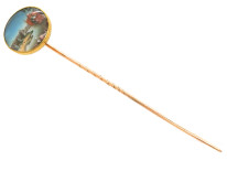 Victorian 18ct Gold Indian Miniature Tie Pin