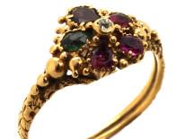 Georgian 18ct Gold Pansy Regard Ring