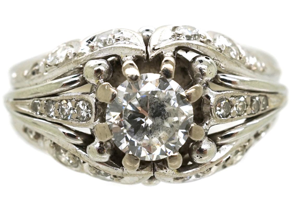 18ct White Gold & Diamond Ring