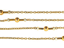 Edwardian 15ct Gold & Pearl Chain