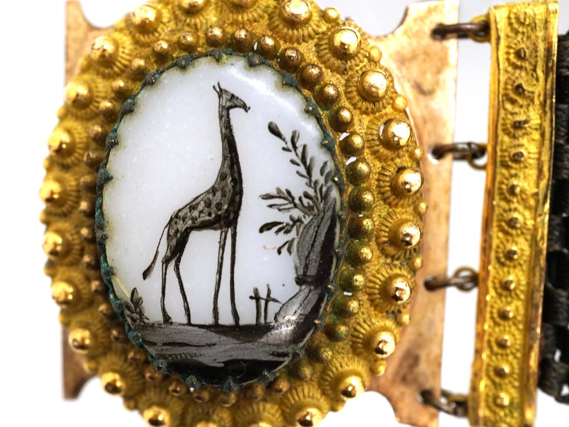 Georgian Pair of Giraffe Bracelets