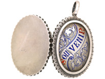 Victorian Silver & Enamel Souvenir Locket