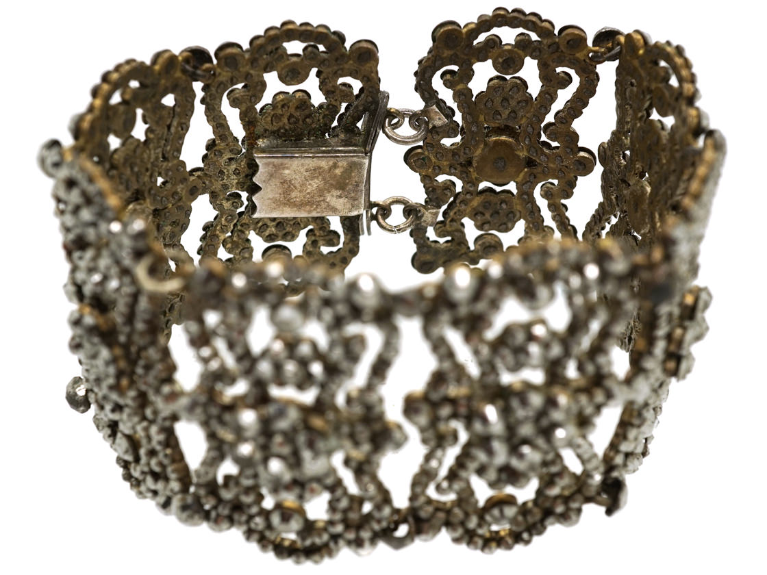 Georgian Cut Steel Bracelet