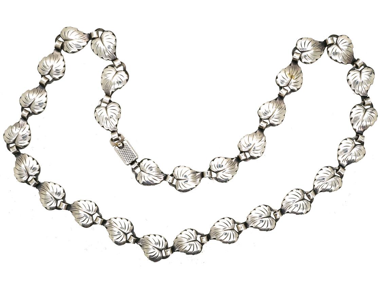 Silver Leaf Necklace by Herman Siersbol