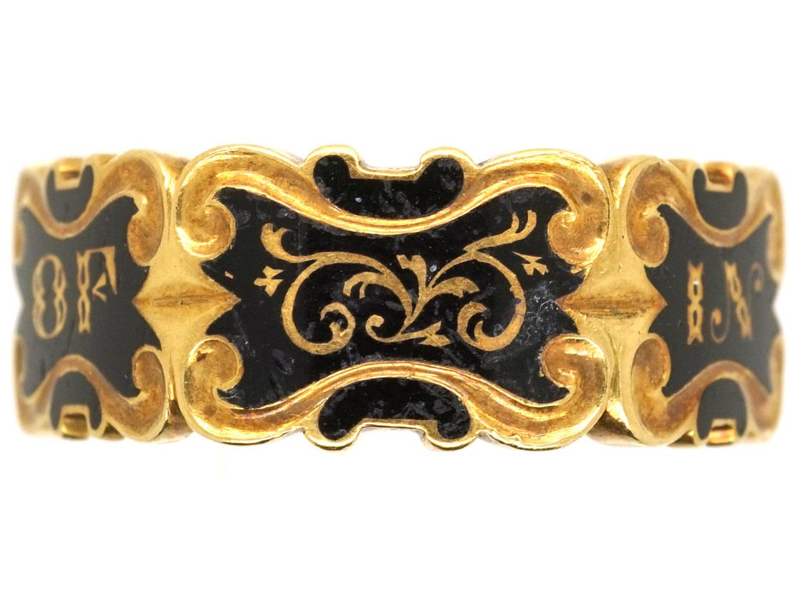 18ct Gold Hexagonal Memorial Ring