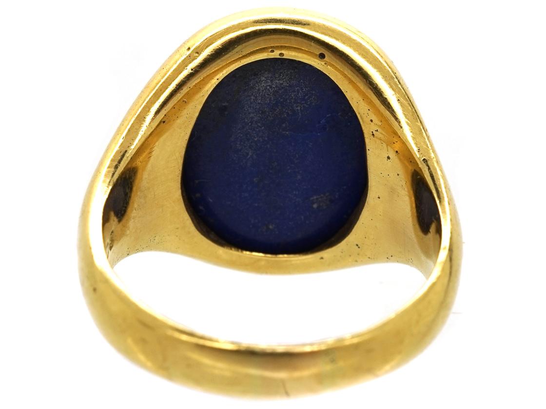 18ct Gold & Lapis Lazuli Signet Ring