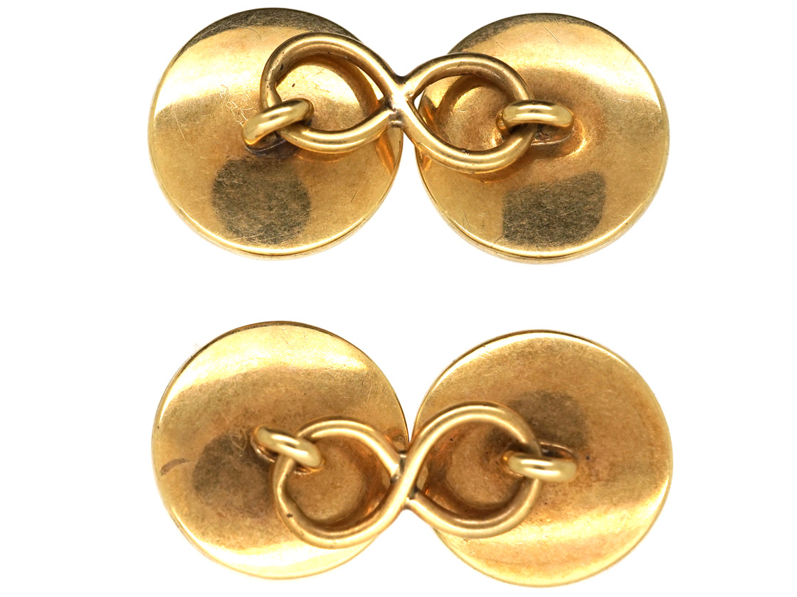 Victorian 18ct Gold & Agate Cufflinks