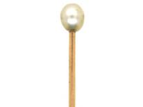 Edwardian Natural Pearl Tie Pin