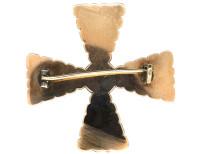 Georgian Flat Cut Almandine Garnet Cruciform Brooch
