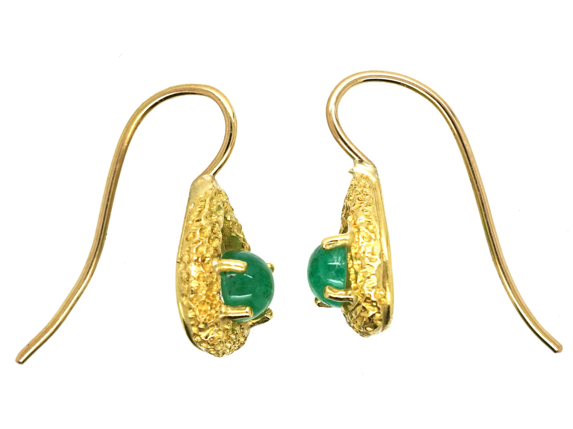 18ct Gold & Emerald Earrings